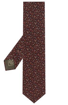 Мужской комплект из галстука и платка BRIONI бордового цвета, арт. 08A900/P942Y   Фото 2