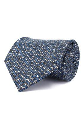 Мужской комплект из галстука и платка BRIONI синего цвета, арт. 08A900/P942Y   Фото 1