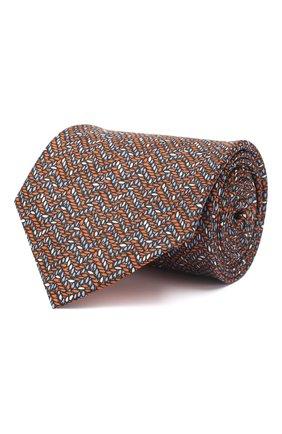 Мужской комплект из галстука и платка BRIONI коричневого цвета, арт. 08A900/P942Y   Фото 1