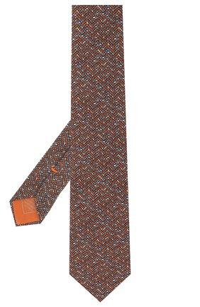 Мужской комплект из галстука и платка BRIONI коричневого цвета, арт. 08A900/P942Y   Фото 2