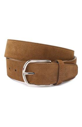 Мужской кожаный ремень BRIONI коричневого цвета, арт. 0BAT0L/P3711 | Фото 1