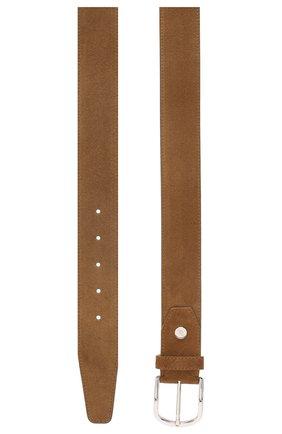 Мужской кожаный ремень BRIONI коричневого цвета, арт. 0BAT0L/P3711 | Фото 2