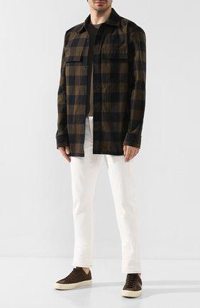 Мужская хлопковая рубашка BOTTEGA VENETA хаки цвета, арт. 601770/VKMN0 | Фото 2