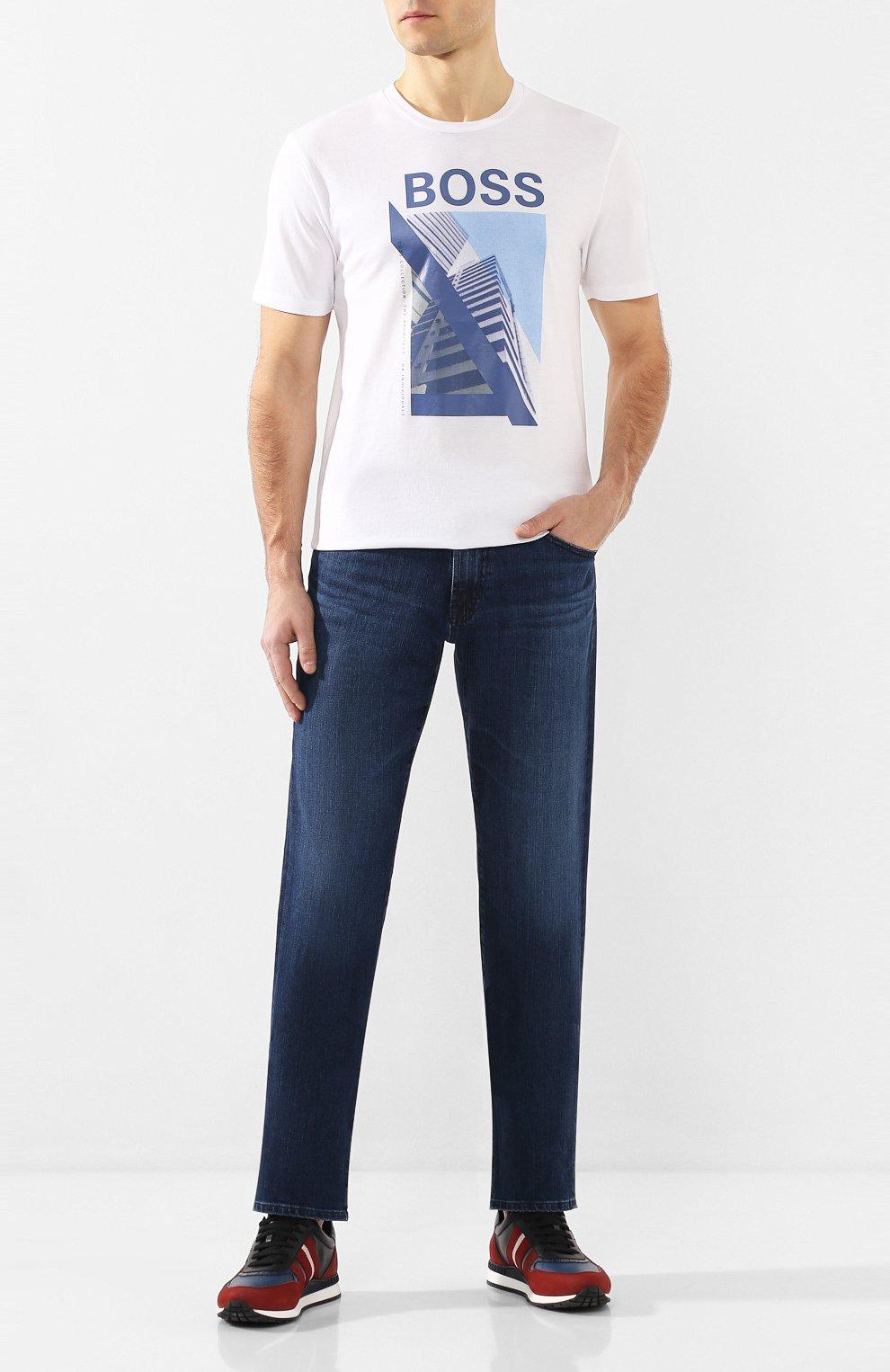 Мужские джинсы AG синего цвета, арт. 1174LED/JMST   Фото 2