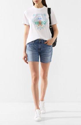 Женские джинсовые шорты AG голубого цвета, арт. LED1915RH/20YDUP | Фото 2