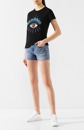 Женские джинсовые шорты AG голубого цвета, арт. LED1714RH/20YDUP | Фото 2