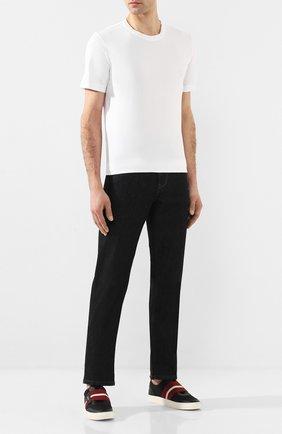 Мужская хлопковая футболка CAPOBIANCO белого цвета, арт. 8M660.AL01. | Фото 2