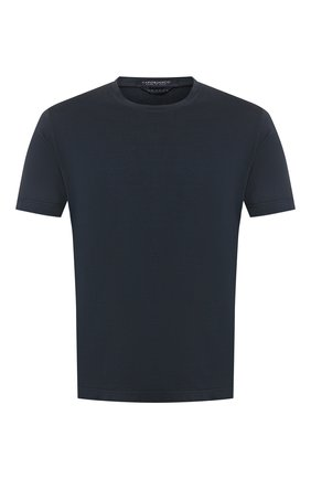 Мужская хлопковая футболка CAPOBIANCO темно-синего цвета, арт. 8M660.AL01. | Фото 1