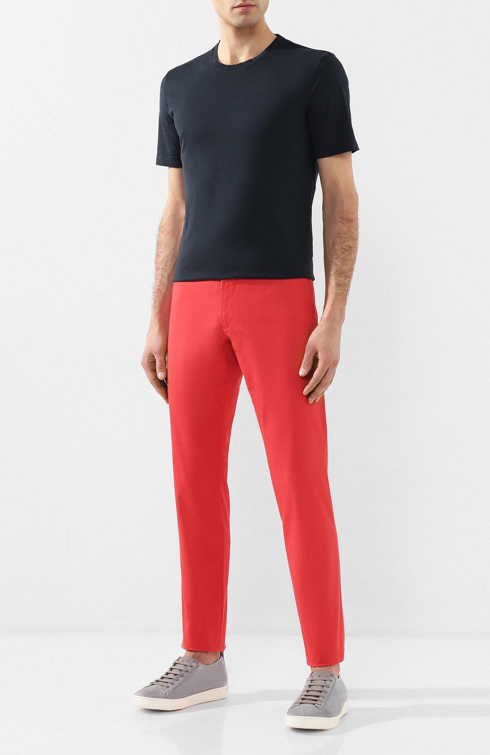 Мужская хлопковая футболка CAPOBIANCO темно-синего цвета, арт. 8M660.AL01. | Фото 2