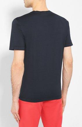 Мужская хлопковая футболка CAPOBIANCO темно-синего цвета, арт. 8M660.AL01. | Фото 4