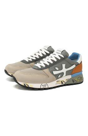 Мужские комбинированные кроссовки PREMIATA разноцветного цвета, арт. MICK/VAR4570 | Фото 1
