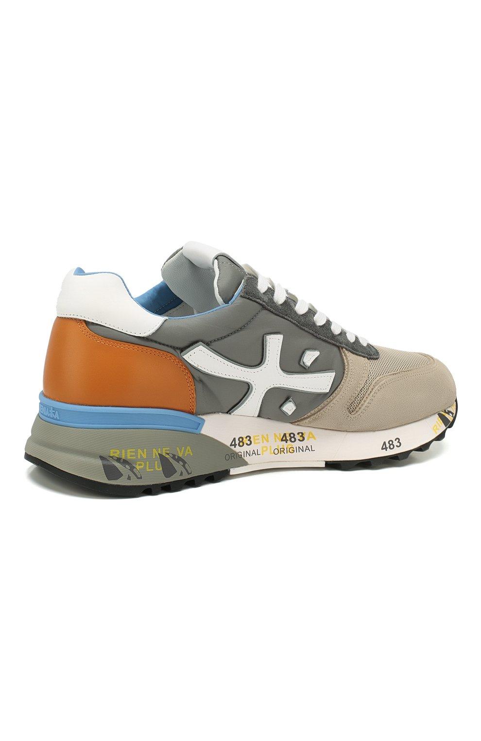 Мужские комбинированные кроссовки PREMIATA разноцветного цвета, арт. MICK/VAR4570 | Фото 4