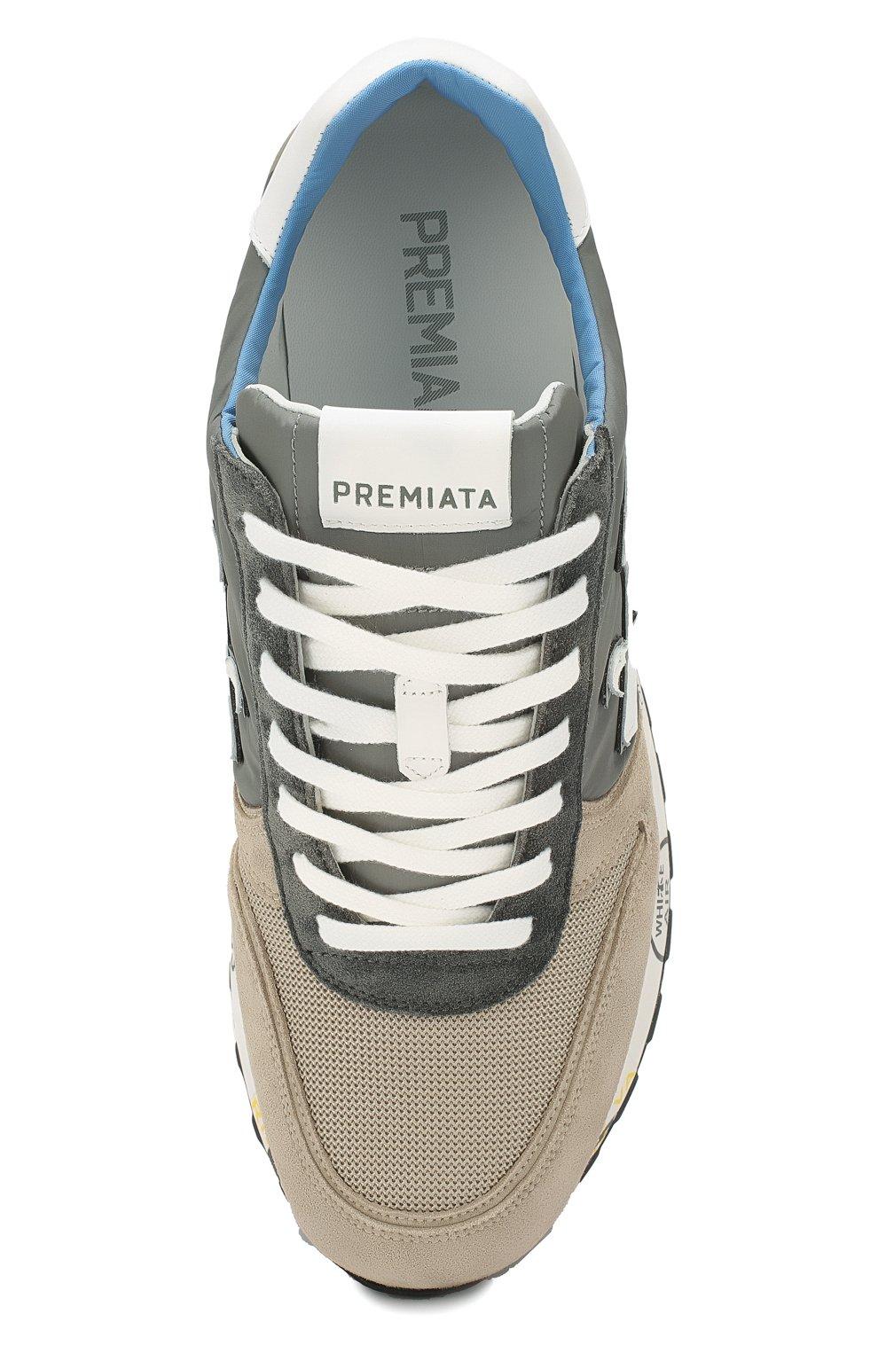 Мужские комбинированные кроссовки PREMIATA разноцветного цвета, арт. MICK/VAR4570 | Фото 5