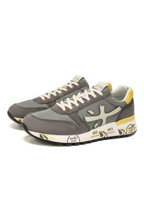Мужские комбинированные кроссовки PREMIATA серого цвета, арт. MICK/VAR3751 | Фото 1