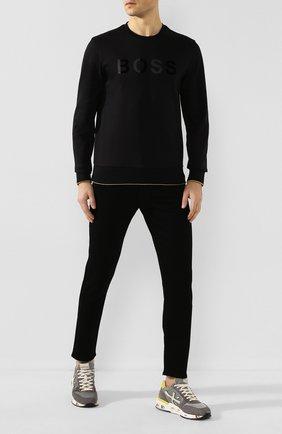 Мужские комбинированные кроссовки PREMIATA серого цвета, арт. MICK/VAR3751 | Фото 2