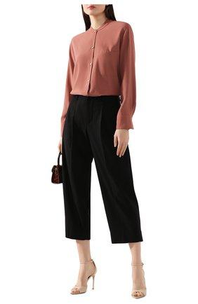 Женская рубашка из вискозы VINCE розового цвета, арт. V630012261 | Фото 2