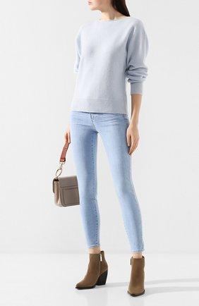 Женская кашемировый пуловер VINCE голубого цвета, арт. V634778397 | Фото 2