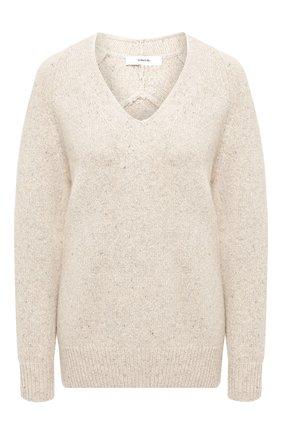 Женская кашемировый свитер VINCE бежевого цвета, арт. V635878362 | Фото 1