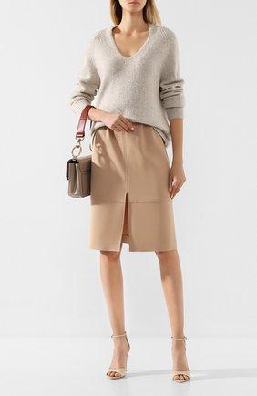 Женская кашемировый свитер VINCE бежевого цвета, арт. V635878362 | Фото 2