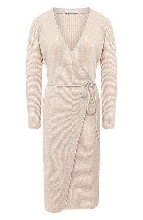 Женское платье из смеси шерсти и кашемира VINCE бежевого цвета, арт. V636378367 | Фото 1