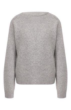 Женская свитер из смеси кашемира и шелка VINCE серого цвета, арт. V636478368 | Фото 1