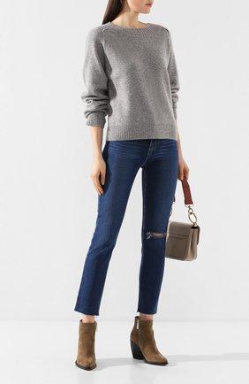 Женская свитер из смеси кашемира и шелка VINCE серого цвета, арт. V636478368 | Фото 2