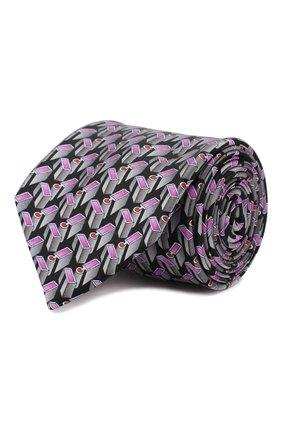 Мужской шелковый галстук ZILLI серого цвета, арт. 50206/TIES | Фото 1