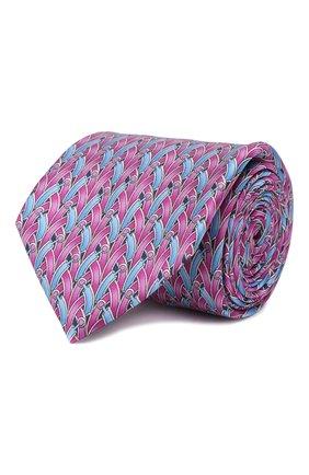 Мужской шелковый галстук ZILLI серого цвета, арт. 50209/TIES | Фото 1
