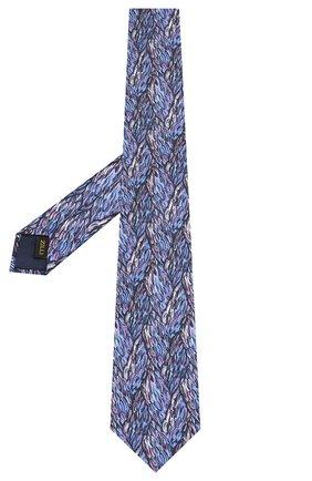 Мужской шелковый галстук ZILLI синего цвета, арт. 50218/TIES | Фото 2