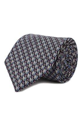 Мужской шелковый галстук ZILLI серого цвета, арт. 50224/TIES | Фото 1