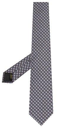 Мужской шелковый галстук ZILLI серого цвета, арт. 50224/TIES | Фото 2