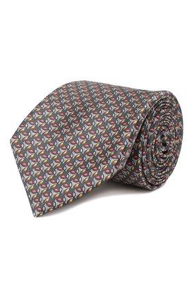 Мужской шелковый галстук ZILLI зеленого цвета, арт. 50289/TIES | Фото 1