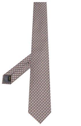 Мужской шелковый галстук ZILLI зеленого цвета, арт. 50289/TIES | Фото 2