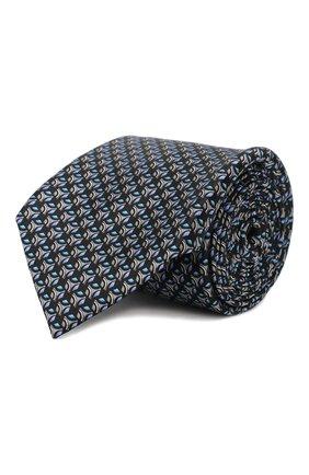 Мужской шелковый галстук ZILLI серого цвета, арт. 50289/TIES | Фото 1