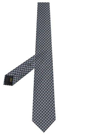 Мужской шелковый галстук ZILLI серого цвета, арт. 50289/TIES | Фото 2