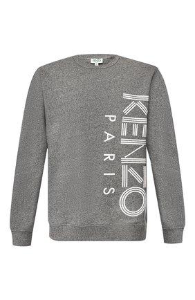 Мужской хлопковый свитшот KENZO темно-серого цвета, арт. F965SW1324MD | Фото 1