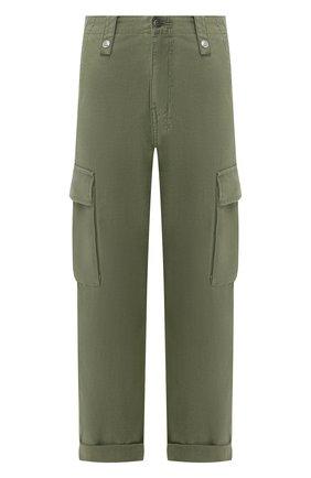 Женские хлопковые брюки KSUBI хаки цвета, арт. 5000004558   Фото 1