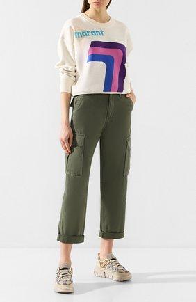 Женские хлопковые брюки KSUBI хаки цвета, арт. 5000004558   Фото 2