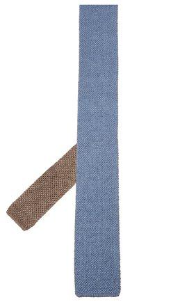 Мужской галстук из смеси шелка и льна CORNELIANI голубого цвета, арт. 85U314-0120391/00 | Фото 2