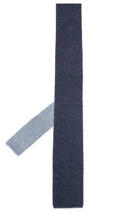 Мужской галстук из смеси шелка и льна CORNELIANI темно-синего цвета, арт. 85U314-0120391/00 | Фото 2