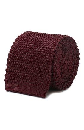 Мужской шелковый галстук CORNELIANI бордового цвета, арт. 85U314-0120389/00   Фото 1