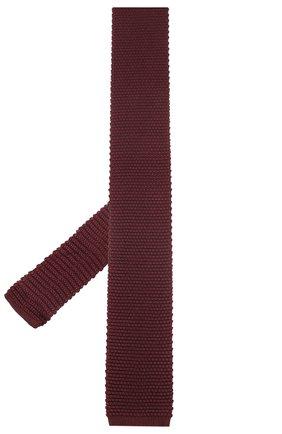 Мужской шелковый галстук CORNELIANI бордового цвета, арт. 85U314-0120389/00   Фото 2