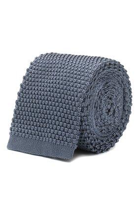 Мужской шелковый галстук CORNELIANI голубого цвета, арт. 85U314-0120389/00 | Фото 1