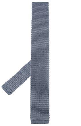 Мужской шелковый галстук CORNELIANI голубого цвета, арт. 85U314-0120389/00 | Фото 2