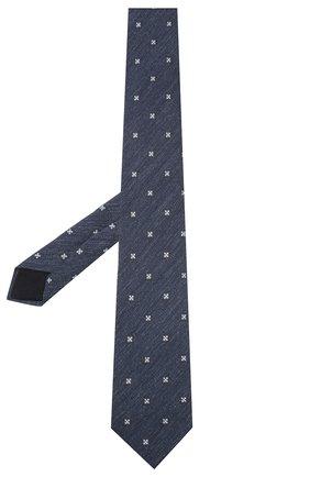 Мужской шелковый галстук CORNELIANI синего цвета, арт. 85U306-0120377/00 | Фото 2