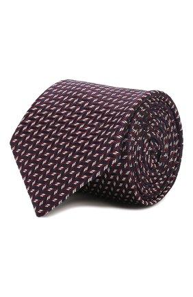 Мужской шелковый галстук CORNELIANI темно-синего цвета, арт. 85U306-0120364/00 | Фото 1