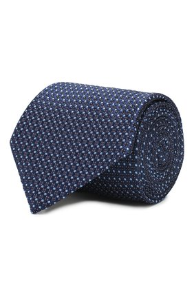 Мужской шелковый галстук CORNELIANI темно-синего цвета, арт. 85U302-0120374/00 | Фото 1