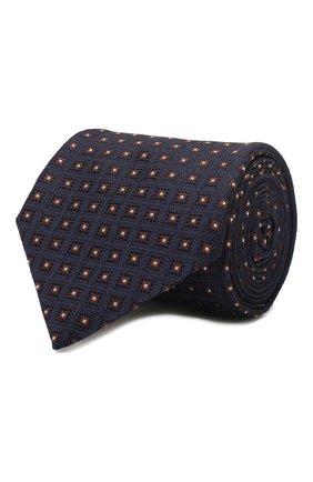 Мужской шелковый галстук CORNELIANI темно-синего цвета, арт. 85U302-0120372/00 | Фото 1