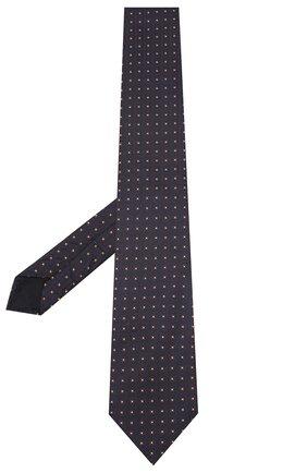 Мужской шелковый галстук CORNELIANI темно-синего цвета, арт. 85U302-0120372/00 | Фото 2