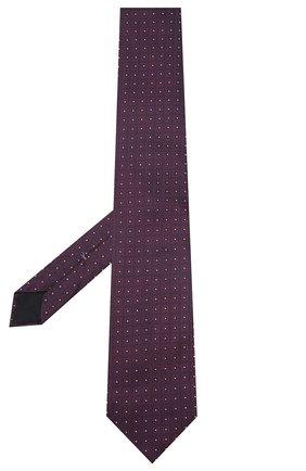 Мужской шелковый галстук CORNELIANI бордового цвета, арт. 85U302-0120370/00   Фото 2